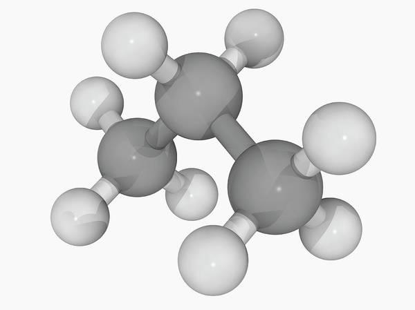 Compound Photograph - Propane Molecule by Laguna Design/science Photo Library
