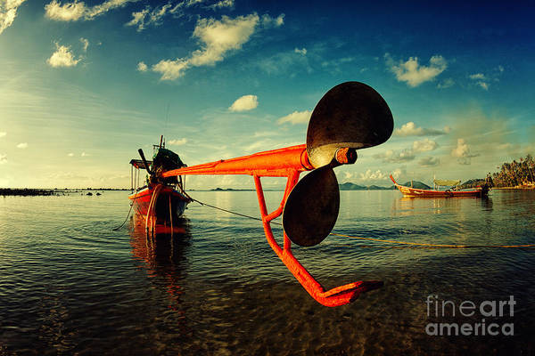 Anchor Photograph - Propeller by Stelios Kleanthous