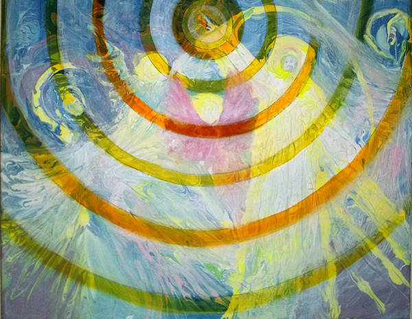 Follow Me Painting - Prophetic Message Sketch 7 Beacon by Anne Cameron Cutri