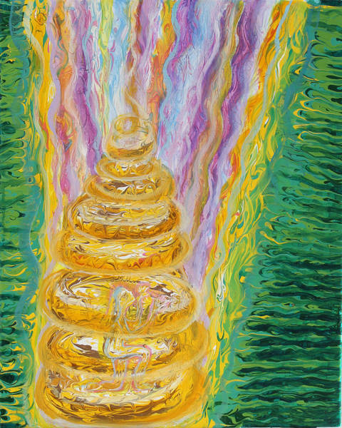 Painting - Prophetic Ms 31 Walls Of Heaven by Anne Cameron Cutri