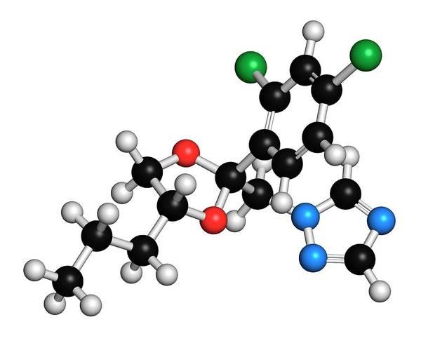 Rust Fungus Photograph - Propiconazole Molecule by Molekuul/science Photo Library