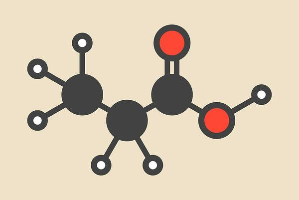 Preservative Wall Art - Photograph - Propionic Acid Molecule by Molekuul