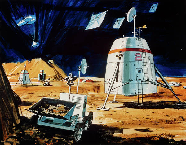 Impression Photograph - Proposed Mission To Mars In 1990s by Nasa/science Photo Library