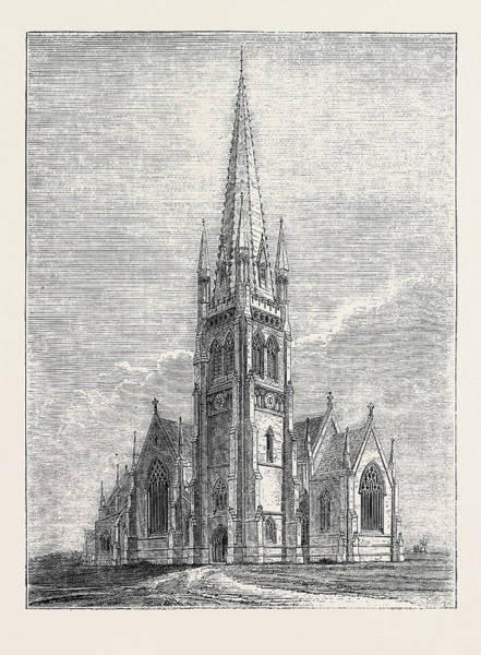 New South Wales Drawing - Proposed New Cathedral At Goulburn by English School