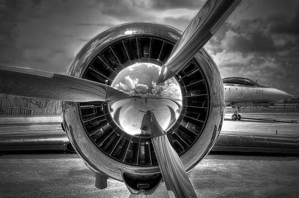 Rotor Photograph - Props And Jet by Rudy Umans