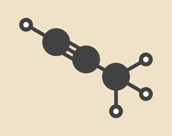Wall Art - Photograph - Propyne Molecule by Molekuul/science Photo Library