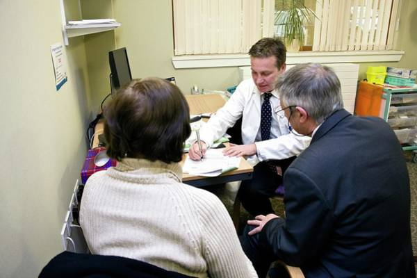 Doctor Office Photograph - Prostate Cancer Treatment Consultation by Antonia Reeve/science Photo Library