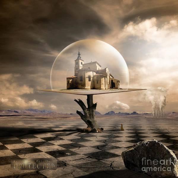 Dove Digital Art - Protected by Franziskus Pfleghart