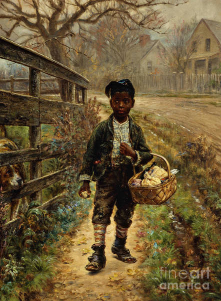 Scared Painting - Protecting The Groceries by Edward Lamson Henry