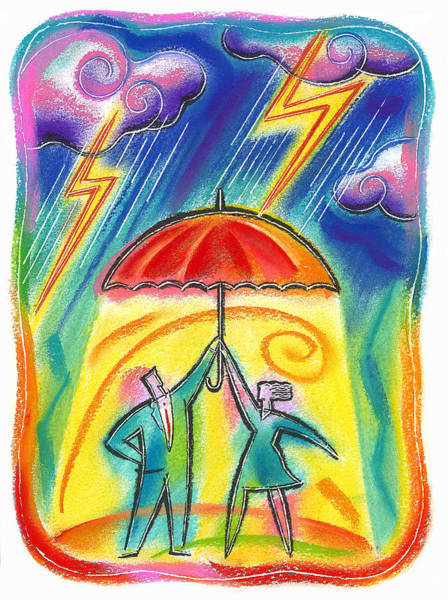 Lightening Painting - Protection by Leon Zernitsky
