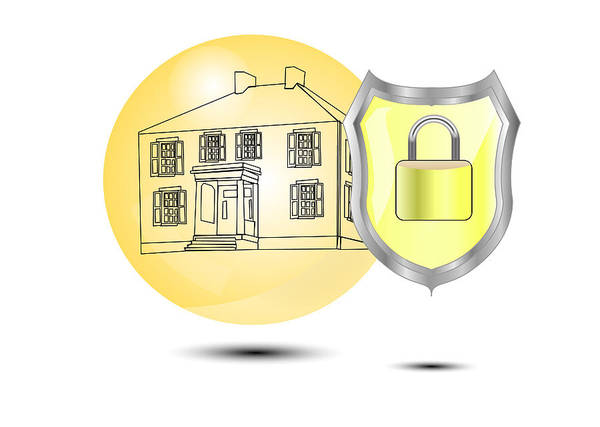 Insurance Digital Art - Protection Of A House With Shield by Gino De Graaf