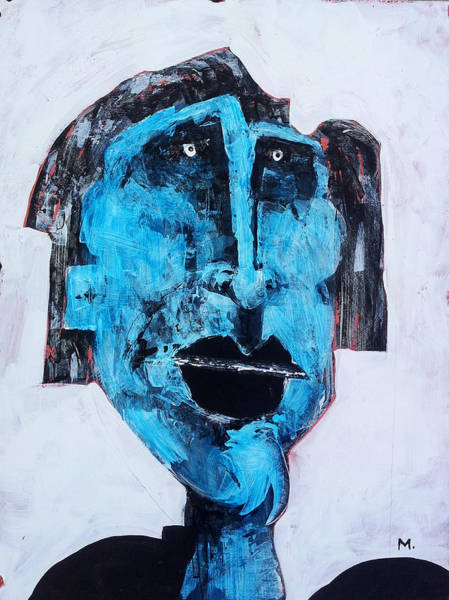 Outsider Art Painting - Protesto No. 4 by Mark M  Mellon