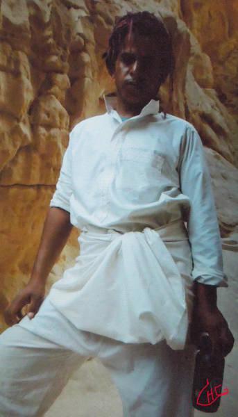 Photograph - Proud Ibrahim  Beduin Living In The Desert Sinai Egypt by Colette V Hera  Guggenheim