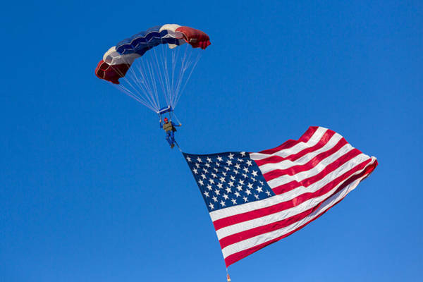 Skydiver Photograph - Proud To Be An American by Caitlyn  Grasso