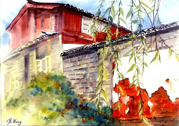 Painting - Proud Wall by Betty M M Wong