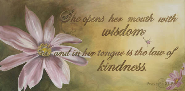 Scriptural Painting - Proverbs 31 Woman by Coreen Wasilkoff