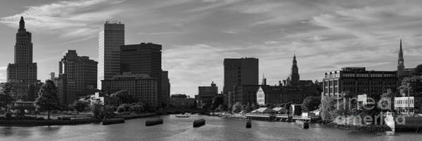 Photograph - Providence Panorama I Bw by Dave Gordon