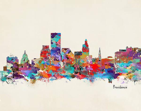 Rhode Wall Art - Painting - Providence Rhode Island by Bri Buckley