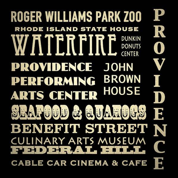 Rhode Island Digital Art - Providence Rhode Island Famous Landmarks by Patricia Lintner