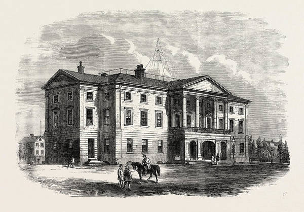 Queen Charlotte Islands Wall Art - Drawing - Province Building, Charlotte Town, Prince Edward Island by English School