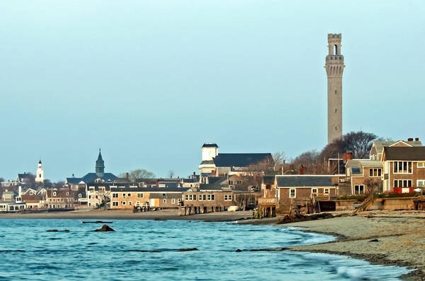 Photograph - Provincetown Bay And Monument by Frank Winters