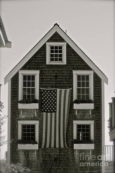 Gay Pride Flag Photograph - Provincetown Ma -american Dream - Photo by Deborah Talbot - Kostisin
