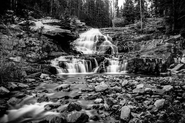 Photograph - Provo River Falls #3 by TL  Mair