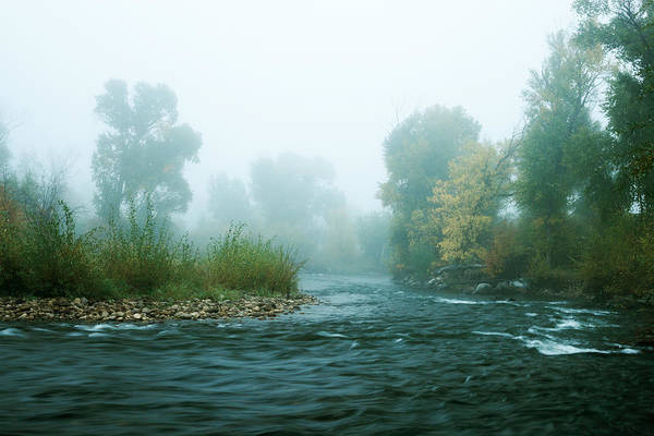 Photograph - Provo River Fog by TL  Mair