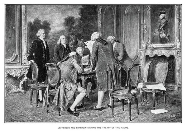 Wall Art - Painting - Prussia-us Treaty, 1785 by Granger