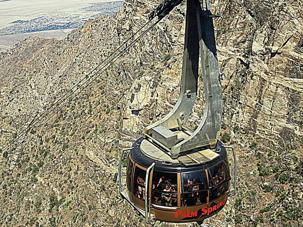 Aerial Tramway Wall Art - Photograph - Ps Aerial Tram 18 by Ron Kandt