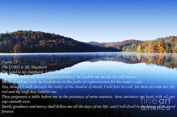 Scripture Photograph - Psalm 23 by Thomas R Fletcher
