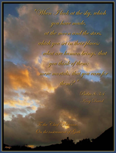 Bible Quotes Photograph - Psalm Eight by Glenn McCarthy Art and Photography