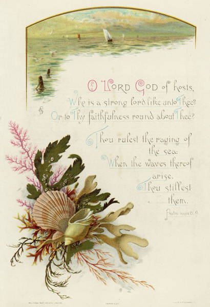 Weeds Drawing - Psalm Lxxxix 8 by Mary Evans Picture Library