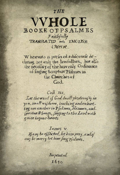 Wall Art - Photograph - Psalms Hand Written Book Plate 1640 by Daniel Hagerman