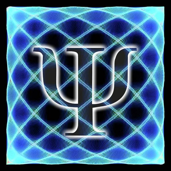 Psi Wall Art - Photograph - Psi Symbol And Artwork Of A Wavefunction by Alfred Pasieka