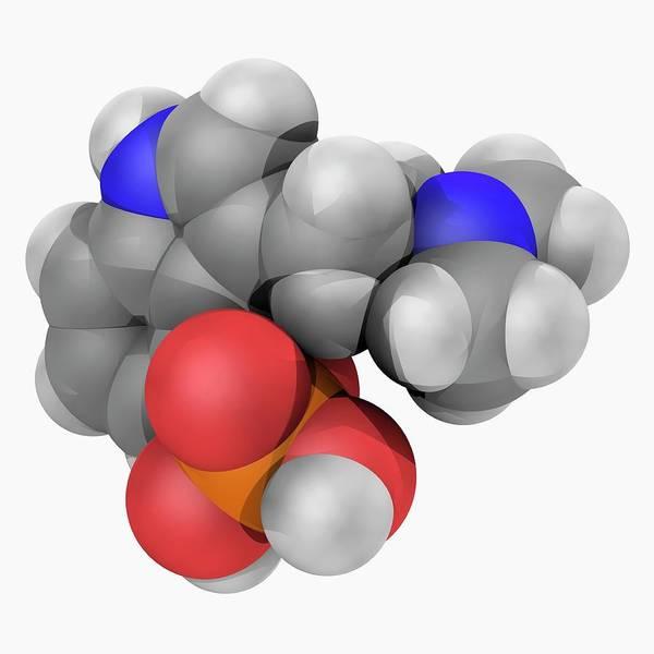 Compound Photograph - Psilocybine Drug Molecule by Laguna Design/science Photo Library