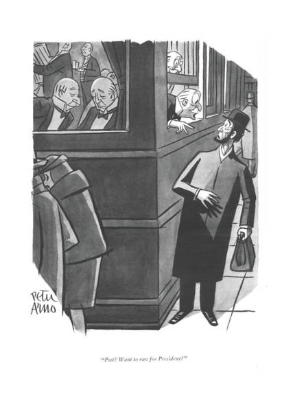 Drawing - Psst? Want To Run For President? by Peter Arno