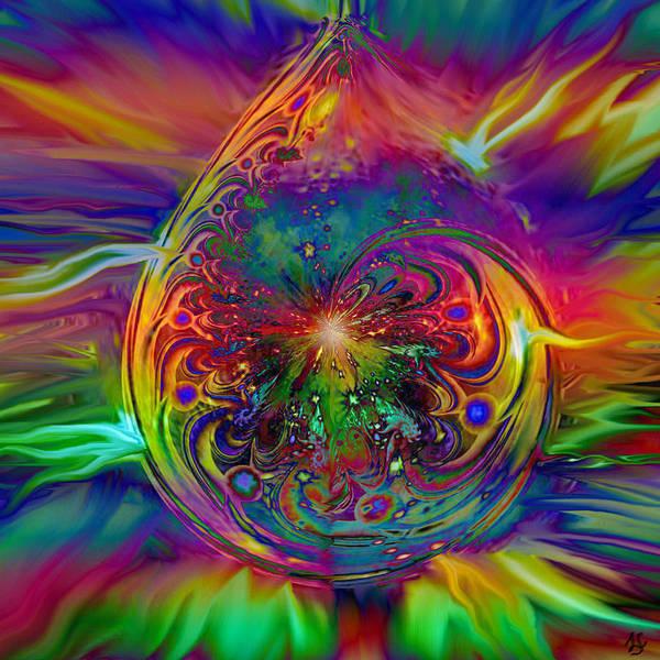 Wall Art - Digital Art - Psychedelic Beams Of Light by Linda Sannuti