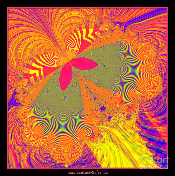 Digital Art - Psychedelic Butterfly Explosion Fractal 61 by Rose Santuci-Sofranko