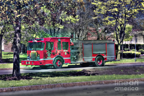 Photograph - Psychedelic Fire Truck by Jim Lepard