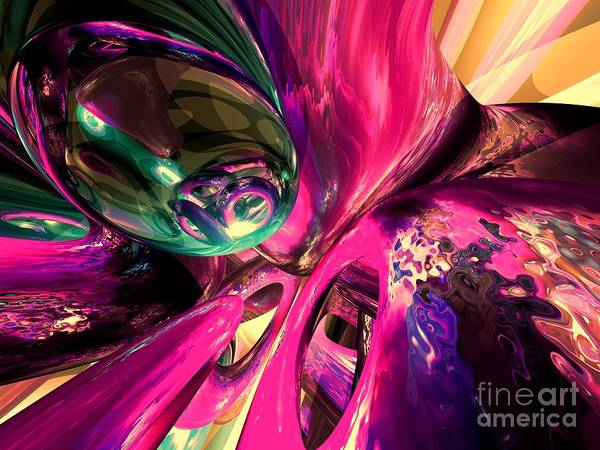 Pleasing Digital Art - Psychedelic Fun House Abstract by Alexander Butler