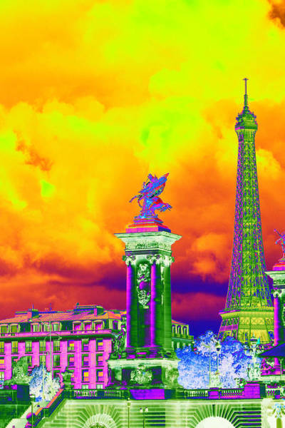 Photograph - Psychedelic Paris by Richard Henne