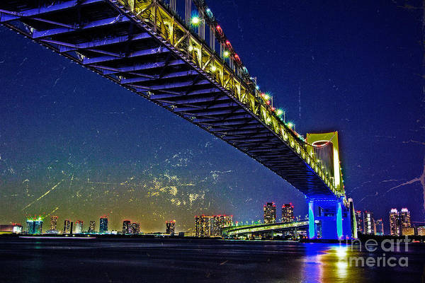 Photograph - Psychedelic Rainbow Bridge In Tokyo by Beverly Claire Kaiya