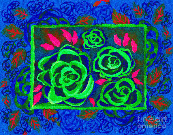 Mixed Media - Psychedelic Roses - Winter by Beverly Claire Kaiya