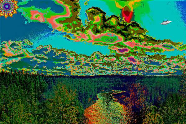 Photograph - Psychedelic Skyline Over Spokane River #2 by Ben Upham III