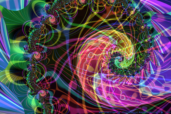 Digital Art - Psychedellic Madras Fractal  by Ann Stretton