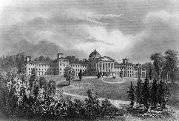 Lunatic Painting - Psychiatric Hospital, C1850 by Granger