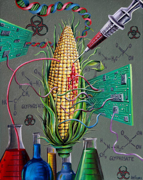 Mono Painting - Psychotically Modified Organism by Jim Figora