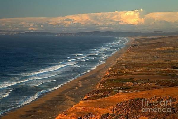 Pt. Reyes Photograph - Pt Reyes Golden Cliffs by Adam Jewell
