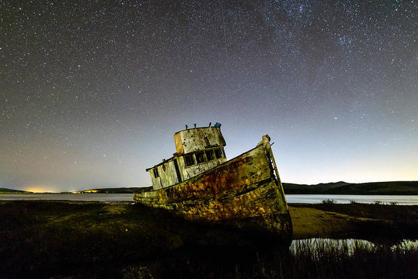 Pt. Reyes Photograph - Pt Reyes Wreck by Mike Ronnebeck
